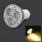 GU10 6W 210lm 3000K 3-LED Warm White Spotlight Bulb (85~265V)