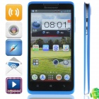 Lenovo A766 MTK6589 Quad-Core Android 4.2.1 WCDMA Bar Phone w/ 5.0' IPS, Wi-Fi, GPS - Black + Blue