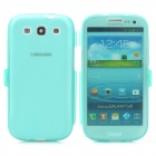 Stylish Protective Silicone Case for Samsung i9300 - Translucent Blue