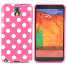 Polka Dot Style Protective TPU Back Case for Samsung Galaxy Note 3 N9000 - Deep Pink