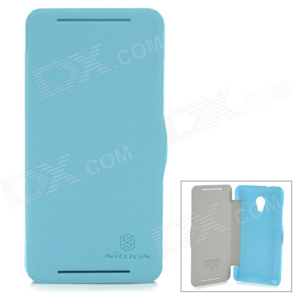 NILLKIN HTC Protective Flip Open PU Leather for HTC Desire 700/7088 - Blue