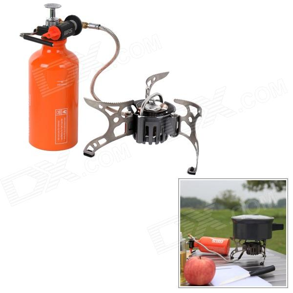 BRS BRS-8B Free Pre-Heating Outdoor Camping Picnic Gas Stove - Orange + Silver