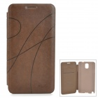 KALAIDENG Protective PU Leather Case for Samsung Galaxy Note 3 N9000 - Coffee