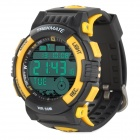 TREKMATE GL-002 Multifunction GPS Sports Digital Wrist Watch - Yellow + Black