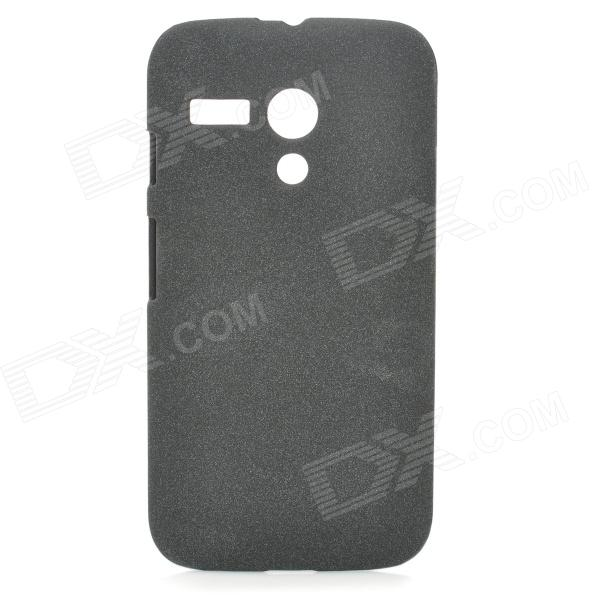 Quicksand Style Protective PC Back Case for MOTO G Phone - Black