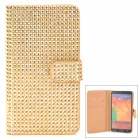 Shining Protective Rhinestone PU Leather Case for Samsung Galaxy Note 3 N9000 - Golden