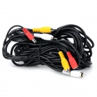 2-RCA + DC Power Cable - Black (1012cm)
