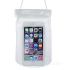 Multifunction Waterproof Plastic Bag for IPHONE / Samsung / HTC + More - Translucent White