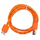 USB 3.0 9-Pin Male Charging/Data Cable for Samsung Galaxy Note 3 N9000 - Orange (100 cm)