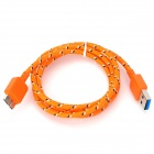 USB 3.0 M to Micro USB 9-Pin M Charging Data Cable - Orange (1m)