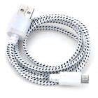USB 2.0 to Micro USB Woven Data Cable for Nexus 7 - White (100cm)