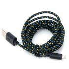 USB 2.0 to Micro USB Data/Charging Woven Cable for Samsung Galaxy Tab 3 P5200 / P5210 - Black (2M)