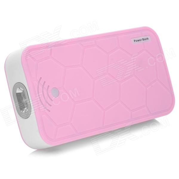 Turtle Shell Style 22000mAh Power Bank Charger w/ 2-LED Flashlight for Cell Phone / IPad - Pink 22000mah power bank w dual usb led flashlight for tablet pc pink
