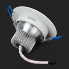 LetterFire 5W 360lm 3000K 5-LED Warm White Ceiling Lamp - White + Silver (AC 85~265V)