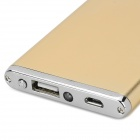 "Ultrathin ""5600mAh"" Power Bank Charger w/ Flashlight for IPHONE 5 / 5s / 5c / 4 / 4s / 3G - Golden"