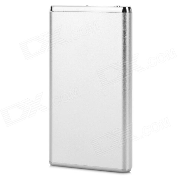 Ultrathin 5600mAh Power Bank Charger w/ Flashlight for IPHONE 5 / 5s / 5c / 4 / 4s / 3G - Silver enb portable power bank case w flashlight for iphone 5 5s 5c 4 white grey multicolored