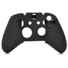 Silicone Wireless Controller Protective Case + TPU Four Controller Caps Set for XBOX ONE - Black