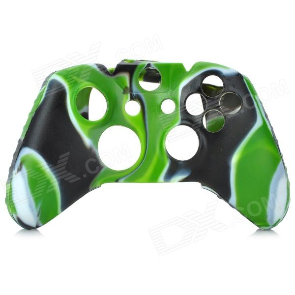 Protective Silicone Case for XBOX ONE Control Pad - Green + Black + Multi-Colored protective silicone case for xbox one controller camouflage green
