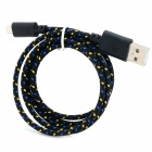 USB 2.0 to Micro USB Data/Charging Woven Cable for Google Nexus 7 / Nexus 7 II - Black (100CM)
