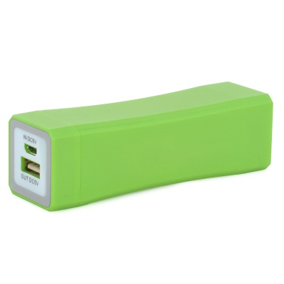 3600mAh 3.7V Portable External Battery Charger w/ LED Indicator for IPhone + Samsung + More - Green