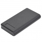 13200mAh Double USB Powered Emergency External Battery Charger w/ LED Light - Black