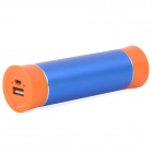 BPS-3 4000mAh Cylinder Shape Aluminium Alloy External Battery Charger - Blue + Orange