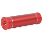 BPS-3 4000mAh Cylinder Shape Aluminium Alloy External Battery Charger - Red
