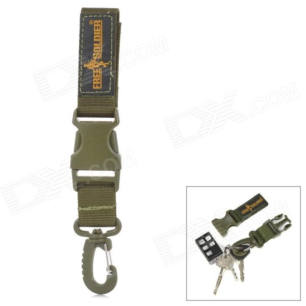 Free Soldier FS-KK01 Outdoor Quick-release Keychain - Army Green mini oxford fabric coin purse w quick release carabiner army green brown