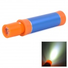 36LED 3600mAh Cylinder Shape Aluminium Alloy External Battery Charger w/ LED Cap - Blue + Orange