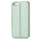 Ultra Thin Silk Texture PU Leather Case for Iphone 5 / 5s - Light Green