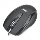 Jiete 2018 USB Wired Ergonomic 800 / 1200dpi Optical Mouse - Black