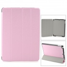 4-Fold Protective PU Leather + Plastic Case Cover Stand w/ Auto Sleep for Ipad AIR - Pink