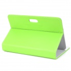 "Universal Protective PU Leather Case for 7"" Tablet PC - Green"