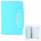 "Universal Protective PU Leather Case for 7"" Tablet PC - Sky Blue"