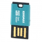 KINGMAX Super Mini Portable TF Card Reader - Blue (64G Max.)