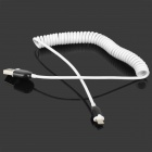 NF7602 USB 2.0 to Micro USB Data/Charging Coiled Cable for Samsung / HTC - White + Black