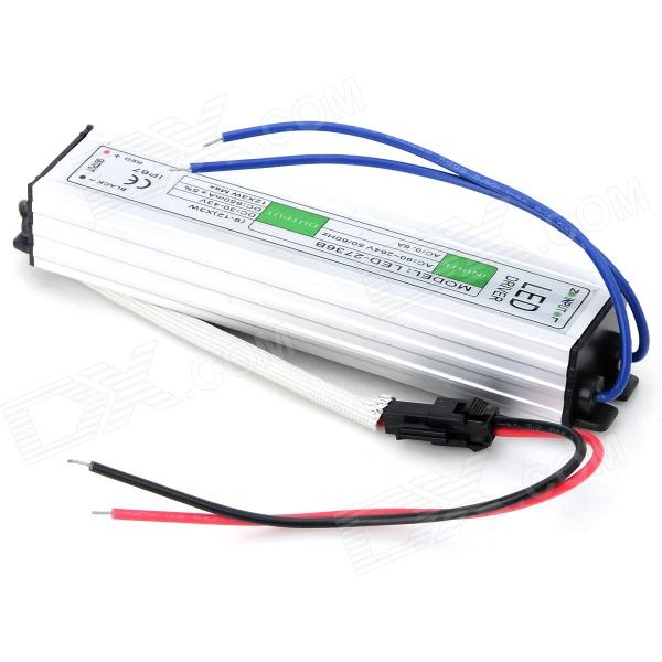 JRLED 36W IP67 impermeable Aluminio Shell LED Driver - blanco plata + negro (90 ~ 264V)
