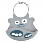 Cartoon Elephant Style Silicone Baby's Bib - Grey