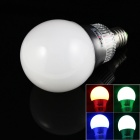 KINFIRE E27 10W Seven Color RGB LED Bulb w/ Remote Controller - White + Silver (85~265V)