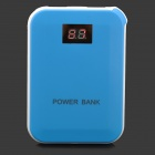 "XY- F4 Portable 0.6"" LCD Display 10000mAh Power Bank w/ Charging Adapters - White + Blue"