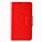 Dikuka Protective PU Leather Case Cover Stand w/ Strap for Samsung Galaxy Note 3 N9000 - Red