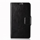 Dikuka Protective PU Leather Case Cover Stand w/ Strap for Samsung Galaxy Note 3 N9000 - Black