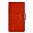 Dikuka Protective PU Leather Case Cover Stand w/ Strap for Samsung Galaxy Note 3 N9000 - Brown