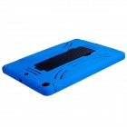 Robot Design Protective Hard Plastic + Rubber Back Case Stand for Ipad AIR - Blue + Black