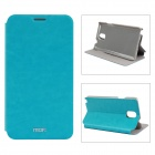 MOFI PR-3-003 Protective PU Leather Case Cover w/ Stand for Samsung Galaxy Note 3 - Greenish Blue
