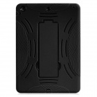 Robot Design Protective Hard Plastic + Rubber Back Case Stand for Ipad AIR - Black