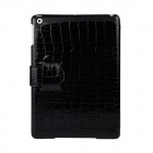 Angibabe Crocodile Pattern Protective PU Leather Case Stand w/ Auto Sleep Cover for Ipad AIR - Black