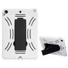 Robot Design Protective Hard Plastic + Rubber Back Case Stand for Ipad AIR - White + Black