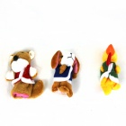 Mignon Puzzle Doll Story doigt Chien + Coq + Fox Set - Jaune + Brown + Blanc
