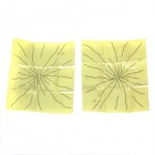 Broken Glass Tricky Toy - Light Yellow + Black (2 PCS)